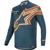 2020 Alpinestars Racer BRAAP Navy Orange Motocross Jersey